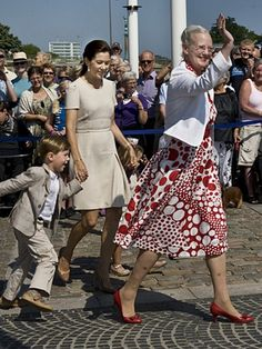 Denmark's Queen, Crown Princess, and future King.
