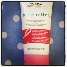 Aveda's special edition breast cancer awareness hand relief cream