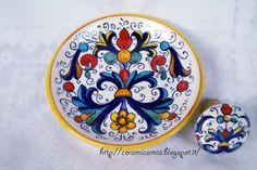 sottobottiglia, tappo in ceramica dipinta a mano