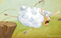 Lamb tale illustration by Susan Batori, via Behance