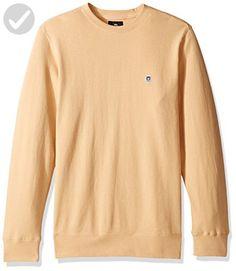 OBEY Men's Eighty Nine Icon Crew Neck Fleece Sweatshirt, Light Sand, X-Large - Mens world (*Amazon Partner-Link)