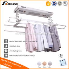 """""""Ceiling mounted electric clothes dryer with UV lights&fans, remote control automatic clothes airing drying hanging hanger rack"""""""