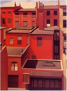 """MacDougal Alley"", 1922  // by Charles Sheeler, U.S., Precisionism"