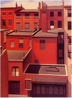 """MacDougal Alley"", 1922  // by Charles Sheeler, U.S., Precisionism"