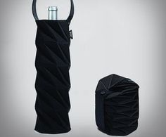 This wine tote is incredible. The Origami Wine Tote collapses down to easily fit inside a briefcase, handbag, or an over-sized pocket on your 6-pocket pants.