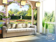 Fotomurales: Jardín de palacio #fotomural #mural #pared #decoracion #deco #TeleAdhesivo