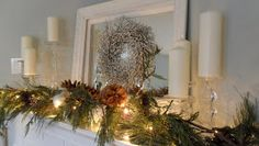 Restoration House: Christmas mantel ...
