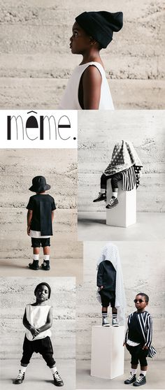 super cool gender neutral clothing brand for kids - même kidswear
