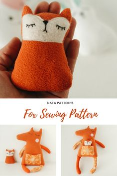 Fox with baby. Sewing pattern PDF #diy #animaldolls #animaltoys #dollpatterns Sewing Toys, Baby Sewing, Pdf Patterns, Doll Patterns, Softies, Plushies, Fox Toys, Cute Baby Gifts, Cute Fox