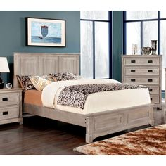Furniture of America Godric Traditional Weathered Platform Bed - Overstock™ Shopping - Great Deals on Furniture of America Beds