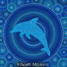 Dolphin Constellation (delphinus) Mandala by Elspeth McLean #dolphin #elspethmclean #mandala #constellation #mandala
