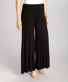 Look at this Black Palazzo Pants - Plus on #zulily today!