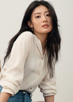 Nam Ji-Hyun - AsianWiki Asian Beauty, Actresses, Celebrities, Blouse, Long Sleeve, Sleeves, Tops, Women, Girls