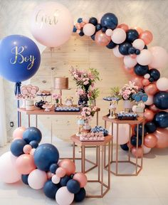 finger food for party Gender Reveal Party Decorations, Baby Gender Reveal Party, Gender Reveal Twins, Elegant Party Decorations, Birthday Decorations, Décoration Baby Shower, Baby Shower Themes, Balloon Arch, Balloon Garland