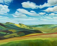 by Anna Dillon, a landscape painter in Oxfordshire county, SE England