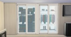 A set of modern wardrobe for modern houses