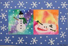 Warm and Cool Color Snowman Picture