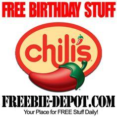 BIRTHDAY FREEBIE - Chili's - FREE BDay Brownie Sundae