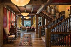 Traditional Home - A traditional home stairs are great.