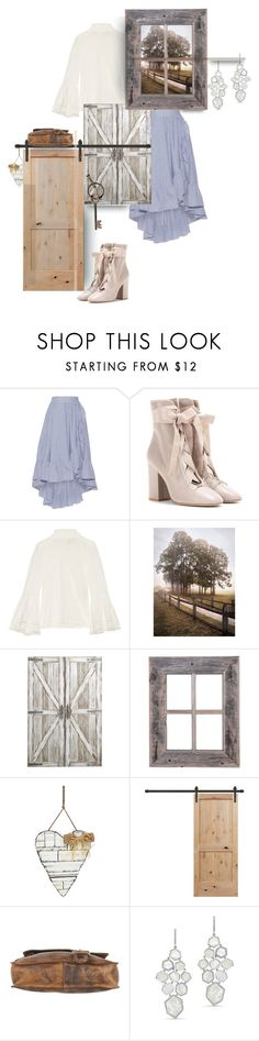 """""""Rustic Peace"""" by nino-d-f ❤ liked on Polyvore featuring Maje, Valentino, Fendi, Pier 1 Imports, Bed
