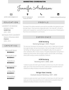 Resume Template  Cv Template And Cover Letter For Ms Word