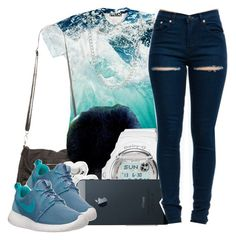 """""""ocean blue. ♥"""" by msyorkieluver ❤ liked on Polyvore featuring G-Shock, Juicy Couture, NIKE and ASOS"""