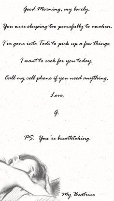 sitecity:  #GabrielsInferno . Gabriel's note to Julia:)