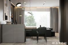 HOUSE IN LODZ,PL on Behance Archi Design, Küchen Design, House Design, Luxury Apartments, Luxury Homes, Home Interior Design, Interior Architecture, Black Rooms, Design Moderne
