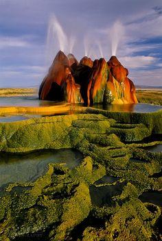 Fly Geyser in the Black Rock Desert, Nevada