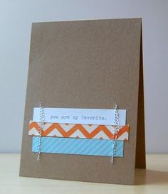 Cute and simple use of patterned paper.