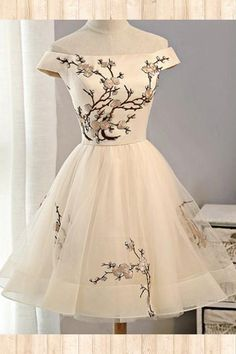 Discount Outstanding Prom Dresses A-Line Cap Sleeves Embroidery Homecoming Dresses,Tulle Short Party Dresses,A Line Prom Dresses A-line prom dresses Short Ball Gowns Two Piece Homecoming Dress, Cheap Homecoming Dresses, Cheap Dresses, Sexy Dresses, Casual Dresses, Elegant Dresses, Summer Dresses, Dress Prom, Long Dresses