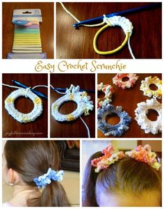 Easy Crochet Scrunchie Best Picture For DIY Hair Accessories For Your Taste . Easy Crochet Scrunchie Best Picture For DIY Hair Accessories For Your Taste You are looking for Kid Braid Styles, Crochet Braid Styles, Crochet Braids, Easy Crochet, Crochet Baby, Knit Crochet, Crochet Hair Clips, Crochet Hair Accessories, Crochet For Beginners