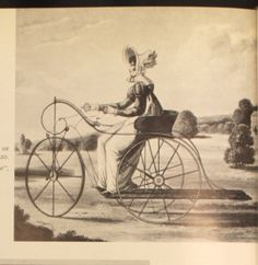"""""""A Pilentum"""" or """"Lady's accelerator"""", 1820, from """"English Costume for Sports and Outdoor Recreation"""" by Phillis Cunnington and Alan Mansfield"""