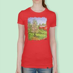«Quick Blossoms New Grass T Shirt Painting, Pointillism, How To Do Yoga, Finland, Blossoms, Grass, Classic T Shirts, T Shirts For Women, Art Market