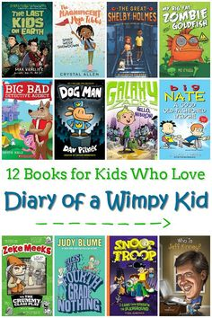 12 Books for Kids Who Love Diary of a Wimpy Kid - Is your child addicted to the Diary of a Wimpy Kid series? Check out these chapter books that they are sure to love. Kids Chapter Books, Books For Boys, Childrens Books, Book Suggestions, Book Recommendations, Wimpy Kid Series, Wimpy Kid Books, Feminist Books, Love Diary