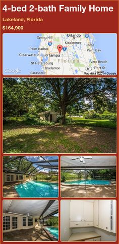 4-bed 2-bath Family Home in Lakeland, Florida ►$164,900 #PropertyForSale #RealEstate #Florida http://florida-magic.com/properties/71915-family-home-for-sale-in-lakeland-florida-with-4-bedroom-2-bathroom