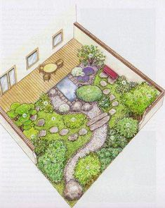 15 Front Yard Landscaping Ideas For Your Beautiful Garden You'll Love. 50 Creative Front Yard Landscaping Ideas and Garden Designs for The post 15 Front Yard Landscaping Ideas For Your Beautiful Garden appeared first on Garden Easy. Small Garden Plans, Garden Design Plans, Home Garden Design, Small Garden Design, Garden Landscape Design, Landscape Plans, Front Yard Design, Front Yard Landscaping, Landscaping Ideas