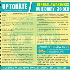 General Awareness #Quizdiary : 30 Dec A Good Man