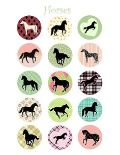 horse bottle cap image | Animal Bottle Cap Images