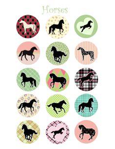 horse bottle cap image | Animal Bottle Cap Images