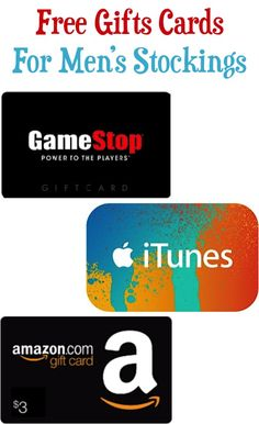 How to Earn Free Gift Cards - these make great Stocking Stuffers for Men!