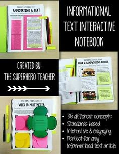 "This product highlights 35 different concepts related to analyzing and evaluating informational text.  It is perfect for a ""Friday Informational Text Day"" where students focus on a new article each Friday as well as a new concept (this is just one option, though)!"