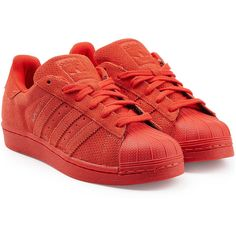 the best attitude 0f761 36550 Adidas Originals Superstar Leather Sneakers (1.600 ARS) ❤ liked on Polyvore  featuring shoes,