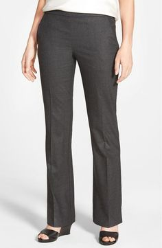 NWT EILEEN FISHER Charcoal Stretch Wool Bootcut Trousers Pants size 4 #EileenFisher #BootCutTrouser