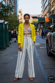 New York SS 2018 Street Style: Model