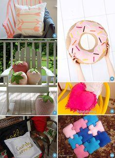 DIY: 10 almofadas criativas e divertidas para decorar a casa toda - Casinha…