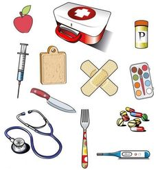 WB - Wat hoort er in de tas van de dokter Community Helpers Worksheets, Worksheets For Kids, Educational Activities, Activities For Kids, Crafts For Kids, People Who Help Us, Community Workers, Health Images, Medical Symbols