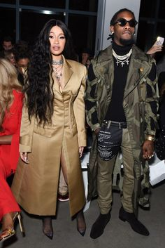 Strong: The topic hits close to home for Cardi - real name Belcalis Almanzar - as rumors of infidelity recently plagued her relationship with fiance Offset; seen in February Celebrity Couples, Celebrity Style, Cardi B Photos, Famous Couples, Prabal Gurung, Celebs, Celebrities, Khloe Kardashian, Cute Couples