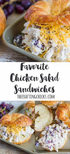 1 hour · Favorite Chicken Salad Sandwich Recipe | Chicken Salad Crossiant Sandwich | Spring Lunch | Sandwich Recipe | Chicken Salad Sandwiches