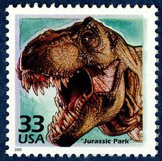 Everyone's favorite dinosaur movie, on a stamp! Copyright United States Postal Service. All rights reserved.